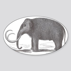 Woolly Mammoth Extinct Mastodon Sticker (Oval)