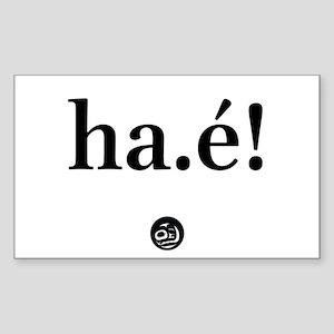 Ha.! Sticker (Rectangle)