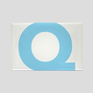 Letter Q Light Blue Magnets