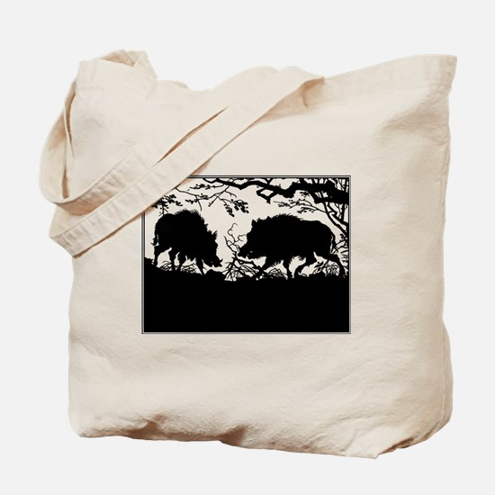 Wild Boar in a Forest Tote Bag