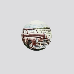 Rusty Old Timer Mini Button