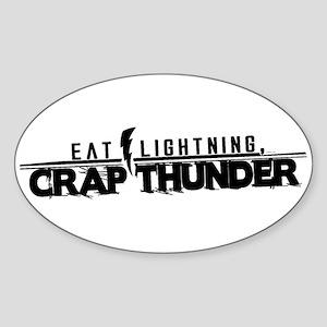 ELTRAV.COM Eat Lightning Oval Sticker