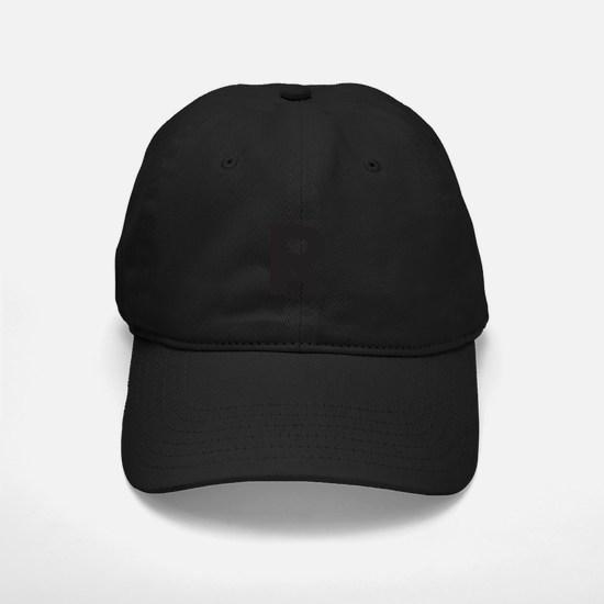 Letter R Black Baseball Hat