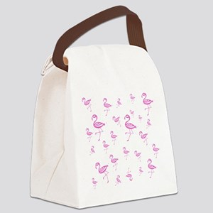 Flamingo Loco Canvas Lunch Bag