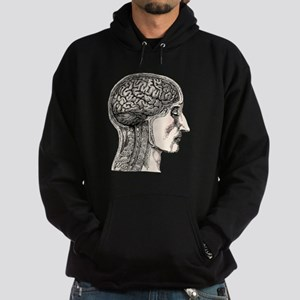 Medical Illustration of Human Brain Hoodie (dark)