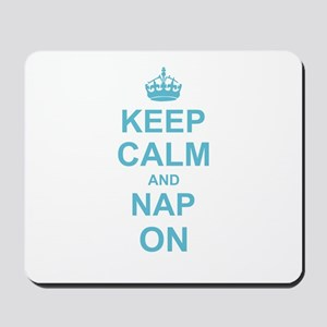 Keep Calm and Nap on Mousepad