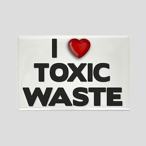 ELTRAV.COM I Heart Toxic Wast Rectangle Magnet