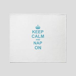 Keep Calm and Nap on Throw Blanket