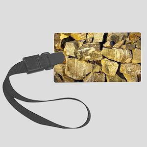 Irish dry stone wall.  Large Luggage Tag