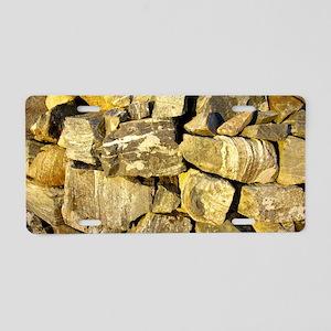 Irish dry stone wall.  Aluminum License Plate