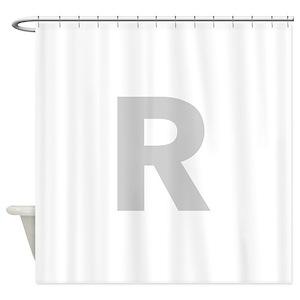 Alphabet Letter R Shower Curtains