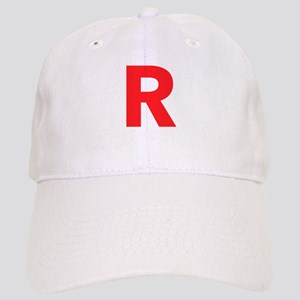 Letter R Red Baseball Cap