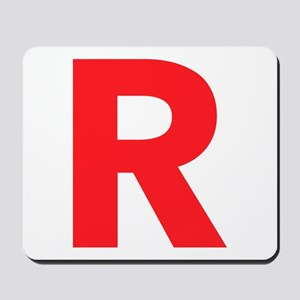 Letter R Red Mousepad