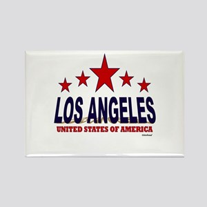 Los Angeles U.S.A. Rectangle Magnet