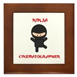 Ninja Cinematographer Framed Tile