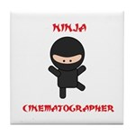 Ninja Cinematographer Tile Coaster