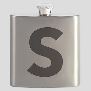 Letter S Black Flask