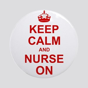 Keep Calm and Nurse on Ornament (Round)
