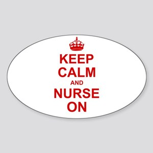 Keep Calm and Nurse on Sticker