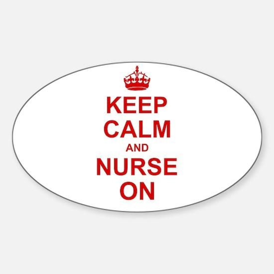Keep Calm and Nurse on Decal