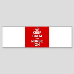 Keep Calm and Nurse on Bumper Sticker