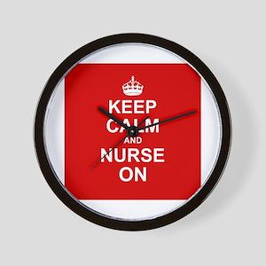 Keep Calm and Nurse on Wall Clock