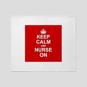 Keep Calm and Nurse on Throw Blanket