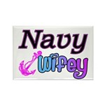 Navy Wifey Rectangle Magnet