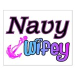 Navy Wifey Small Poster
