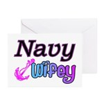 Navy Wifey Greeting Cards (Pk of 10)