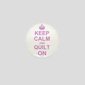 Keep Calm and Quilt on Mini Button