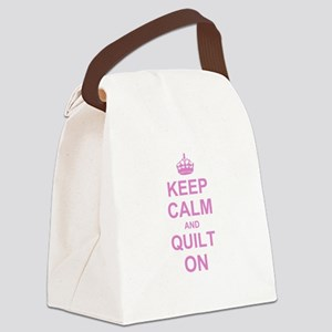 Keep Calm and Quilt on Canvas Lunch Bag