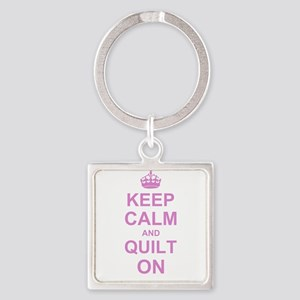 Keep Calm and Quilt on Keychains