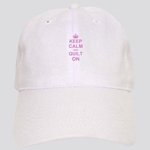 Keep Calm and Quilt on Cap