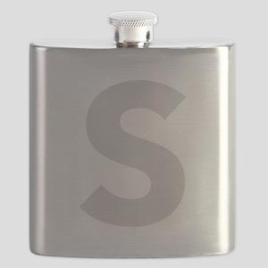 Letter S Light Gray Flask
