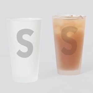 Letter S Light Gray Drinking Glass