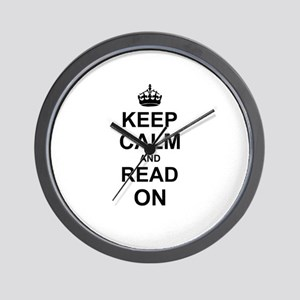 Keep Calm and Read on Wall Clock