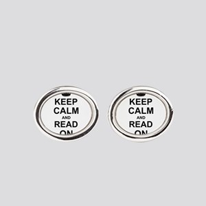 Keep Calm and Read on Cufflinks