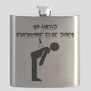 Knife In Back Flask