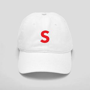 Letter S Red Baseball Cap