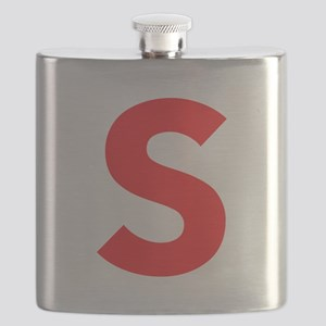 Letter S Red Flask
