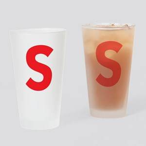 Letter S Red Drinking Glass