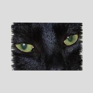 "Rectangle Magnet ""Miru - the naughty black cat"""