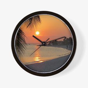 Key West Sunset Wall Clock