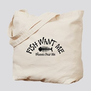 FISH WANT ME Tote Bag