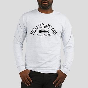 FISH WANT ME Long Sleeve T-Shirt