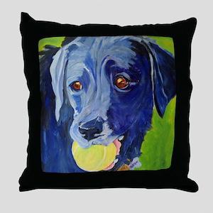 Play Ball a dog and his ball Throw Pillow