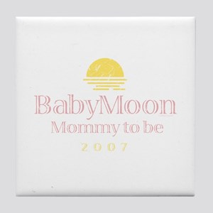 BabyMoon Mommy To Be 2007 Tile Coaster