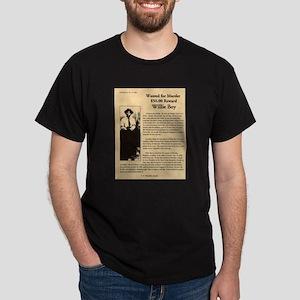 Wanted Willie Boy  Dark T-Shirt