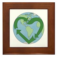 Recycle Earth (Heart) Framed Tile